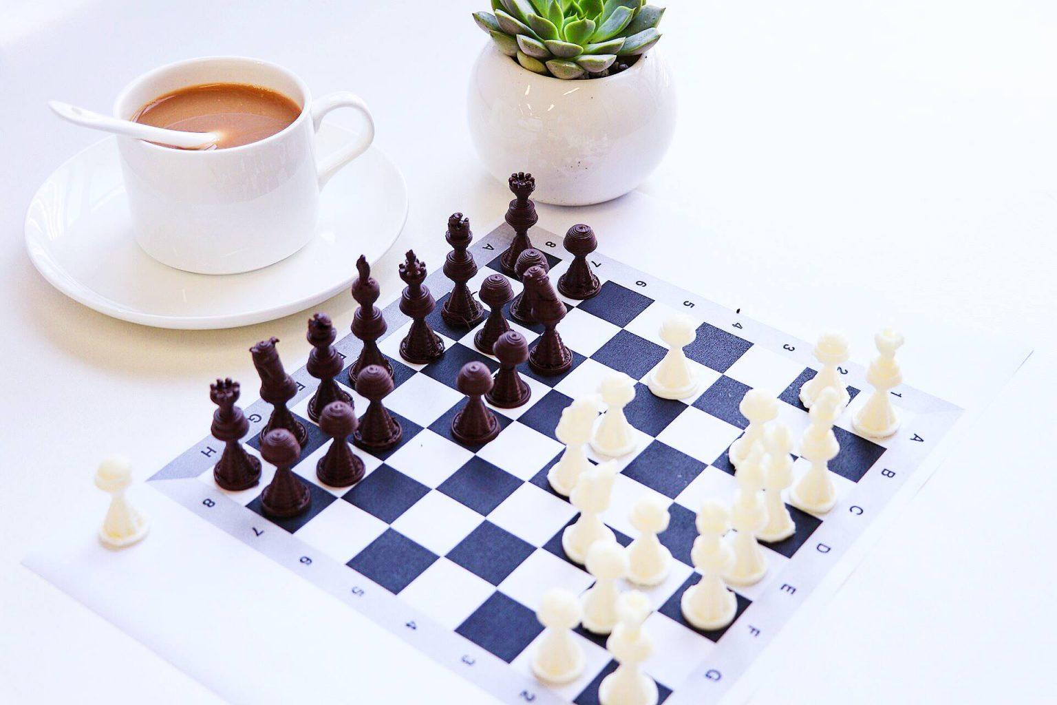 çikolatadan satranç takımı